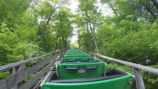 Boulder Dash Wooden Roller Coaster Back Seat POV 60FPS Lake Compounce