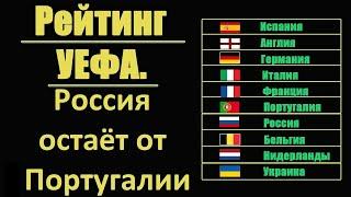 Таблица УЕФА Россия отстаёт от Португалии