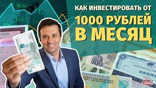 Как и куда инвестировать от 1000 рублей в месяц