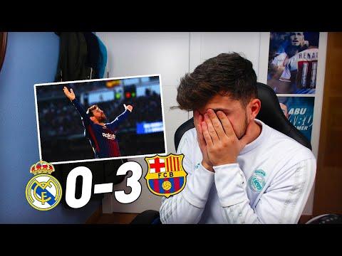REACCIONES DE UN HINCHA AL CLÁSICO  REAL MADRID 03 FC BARCELONA