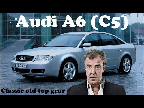 Jeremy Clarkson is driving Audi a6 (C5) nice elegant sedan in classic old top gear