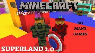 SUPERLAND 2.0 | MINECRAFT MODDED MINI GAMES (#3) With M4ster Chief380