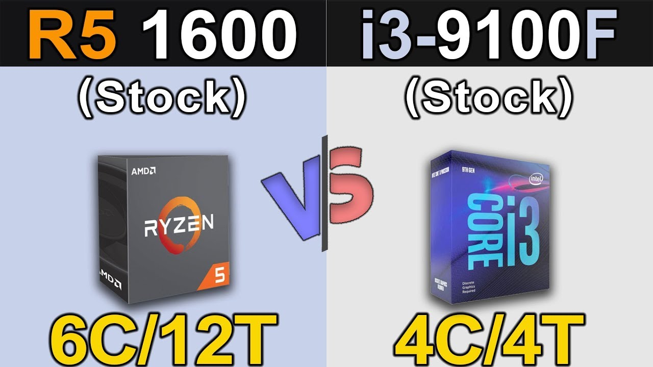 Ryzen 5 1600 Vs. i3-9100F   1080p and 1440p Gaming Benchmarks