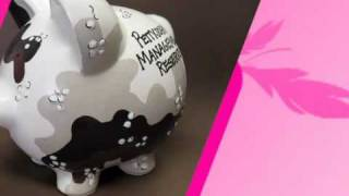 Personalized Piggy Bank with Desert Camouflage Design