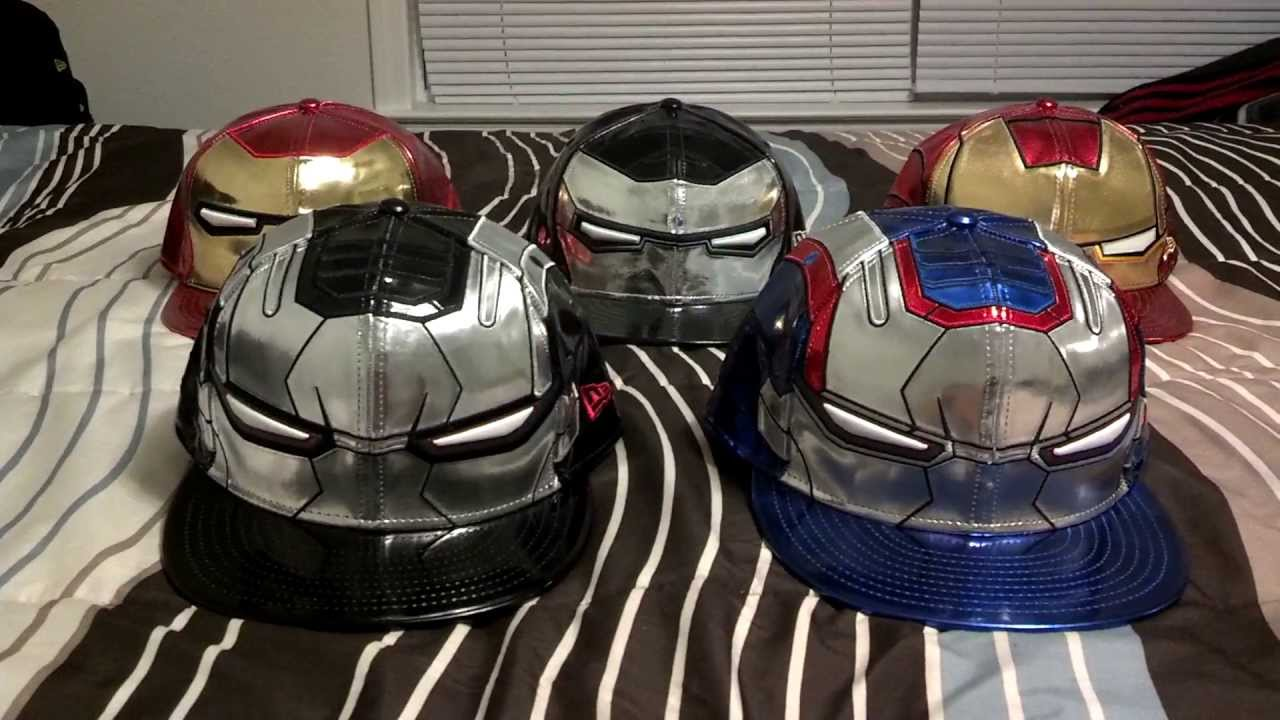 New Era Marvel Iron Man 3 War Machine and Iron Patriot Hats - YouTube 9978a1981e5b