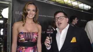 'Last Vegas' actress Jena Sims interviewed at Sue Wong LAFW Event