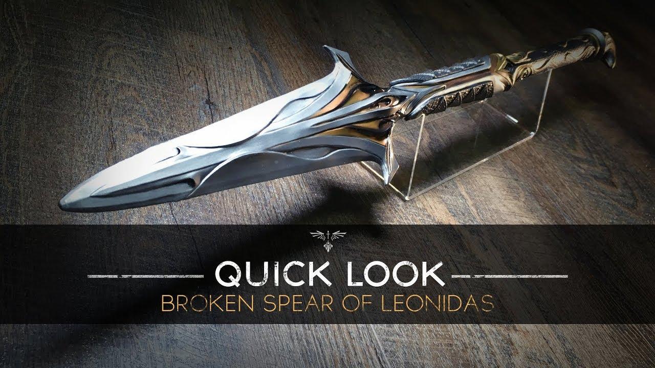 "Ubisoft #NEW 24/"" Broken Spear of Leonidas Replica ASSASSIN/'S CREED: Odyssey"