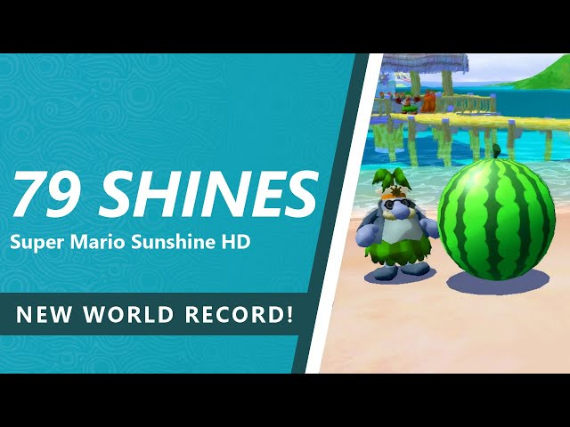My First Sunshine HD Speedrun with New Camera Controls! - (79 Shines in 2:33:47 WR)
