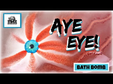 "MAMA BASS HANDMADE SOAP - ""Aye Eye"" Bloodshot Eyeball Bath Bomb Demo in Jetted Tub *HALLOWEEN*"