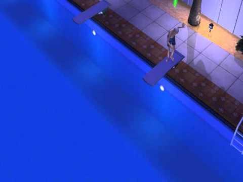 Al viejo le da miedo tirarse a la piscina en los sims 2 for Tirarse a la piscina