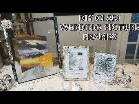 DIY | GLAM WEDDING PICTURE FRAMES | DIY WEDDING DECOR | DIY WEDDING PICTURE FRAMES IDEAS