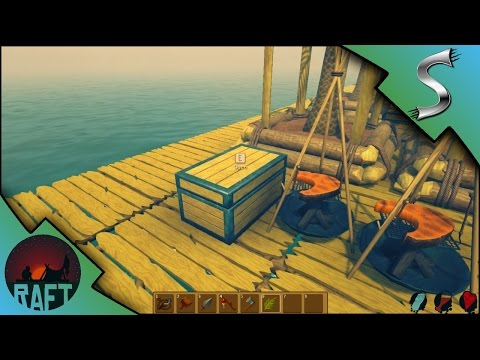 STORAGE CHESTS! STARTING A HOUSE! | Raft Gameplay [E3]