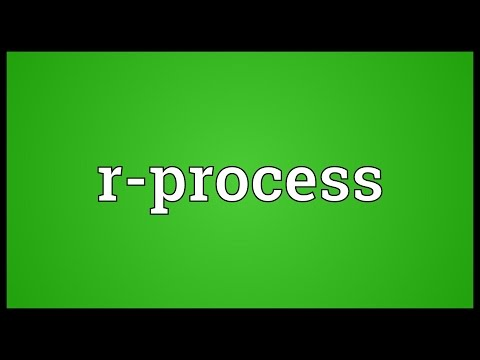 R-process Meaning