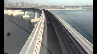 Dubai Palm Jumeirah Atlantis Monorail Train  2010