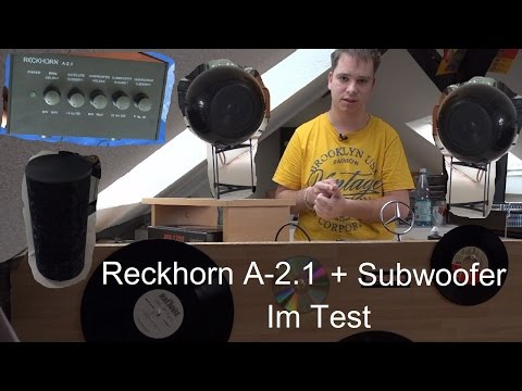 RECKHORN A-2.1 mit S-15 + Subwoofer H-100 Unboxing / Review