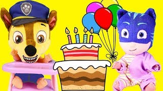 Birthday Party Cake, Superheroes and Villains with Paw Patrol Toys