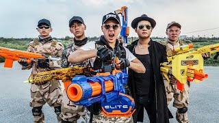 LTT Game Nerf War : Captain Warriors SEAL X Nerf Guns Fight Braum Crazy Loser Revenge Swat Comback