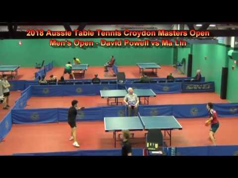 2018 Aussie Table Tennis Croydon Masters Open - David Powell vs Ma Lin