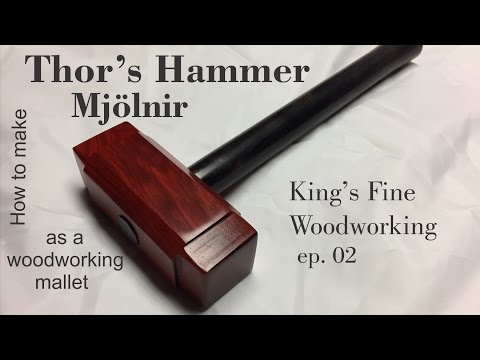 02 How to Make Thors Hammer Mjolnir as a Woodworking mallet