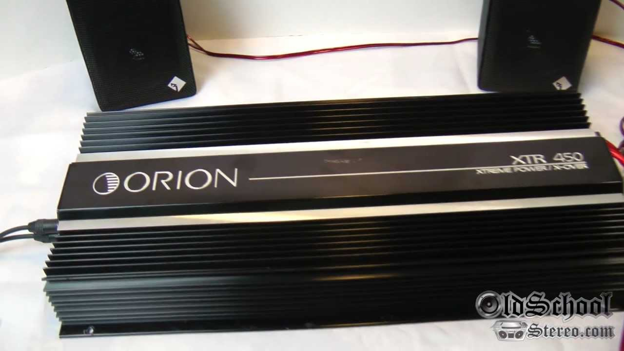 hight resolution of orion xtr 450 old school car amplifier amp hcca pop top