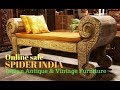 Antique Benches  Daybeds  Couch chaise lounger sofa set || antique day bed