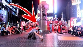 100Ft. Coke and Mentos Experiment in Times Square NYC!! | Incredible Science Gravity Episode #4 of 5