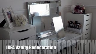 One of MakeupByCheryl's most viewed videos: IKEA Vanity Redecoration and Makeup Organization