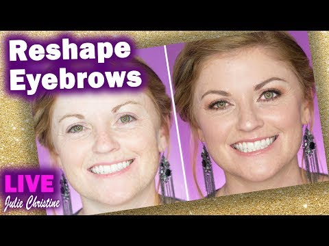 Red Hair Boxy Charm Pur Palette Tutorial. Reshape Eyebrows Full Face in Real Time Rose Gold