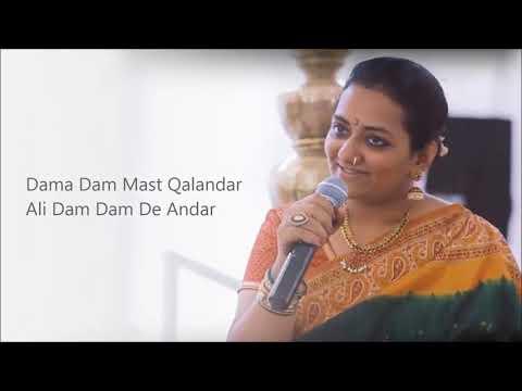 Dama Dam Mast Qalandar - Sing Along With Lyrics - Sung by Bindi
