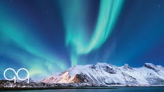 Instrumental Relaxing Music: Ambient, Peaceful, Soothing, Study Music – Northern Lights Footage