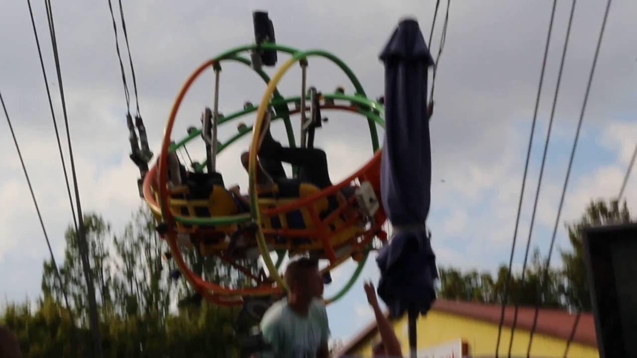 Fahrgeschäft slingshot Höhenangst im