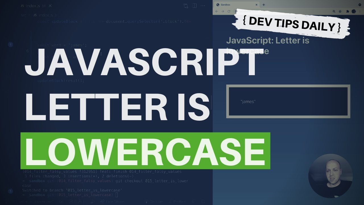 Check If A Letter Is Lowercase with JavaScript