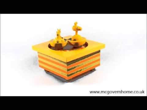 Giraffe Music Box by Trousselier