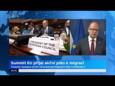 B. Sobotka na TK po Summitu EU o migraci