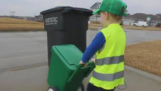 Treasured Moments: 3-year-old overjoyed to take out the trash
