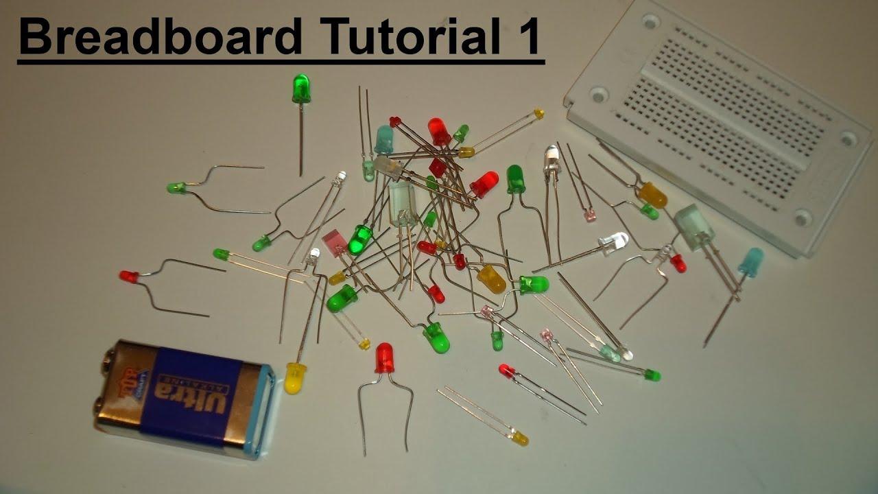 Breadboard Tutorial 1 - einfache LED Schaltung - YouTube