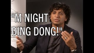 "M Night in a Glass / Split interview, reacting to his ""DING DONG!"" ..."