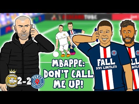 ❤️ZIDANE Loves MBAPPE❤️ (Real Madrid Vs PSG 2-2 Parody Goals Highlights Champions League 2019)