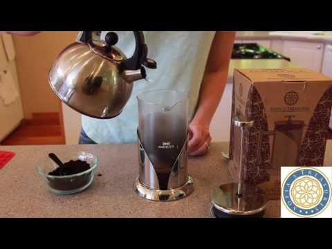 Sofia's Treasures | ANGELICA French Press Coffee Maker | Video Brew Guide