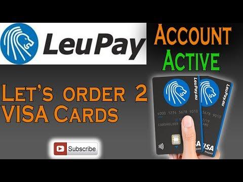 Leupay Account ACTIVE - How To Get 2 Free VISA Debit Cards (Part 2)