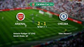 Results Arsenal vs Chelsea. Semi Final Leg 2 Carabao Cup, tgl 25 Januari 2018