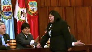 Le quitaron el saludo a Evo Morales