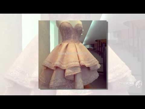 Короткое платье выпускного вечера 2016 сшитое бальное платье коктейльное платье многоуровниз YouTube · Длительность: 59 с