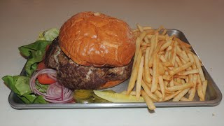 Monster 5lb Burger Challenge Stuffed W/ Bacon, Cheese, & Mushrooms!!