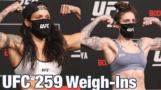 UFC 259 Weigh-Ins: Amanda Nunes vs <b>Megan Anderson</b>