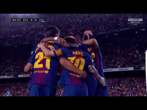FC Barcelona vs Espanyol 5-0 - All Goals - La Liga 09/09/2017 HD - Sky Sports HD