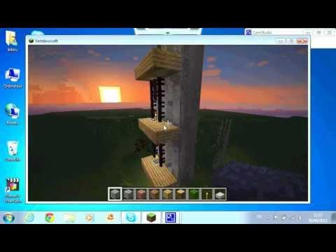 comment faire un ascenseur sans redstone dans minecraft 1 youtube. Black Bedroom Furniture Sets. Home Design Ideas