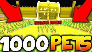 BREAKING PET SIMULATOR WITH 1000 TIER 17 PETS VS DOMINUS CHEST! *INSTANT* (Roblox)