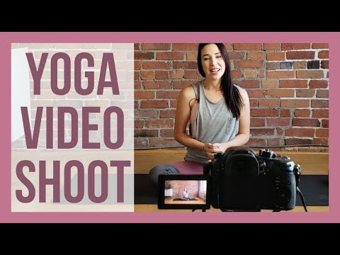 BEHIND THE SCENES: Yoga Video Shoot!