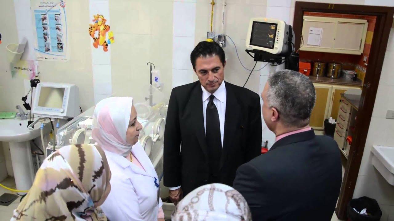بالفيديو : السيد هانى المسيري محافظ الاسكندرية بزيارة مستشفى الاطقال بالانفوشى